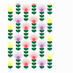 Floral Wallpaer Pattern Bright Bright Colorful Flowers Pattern Wallpaper Background Small Garden Flag (two Sides)