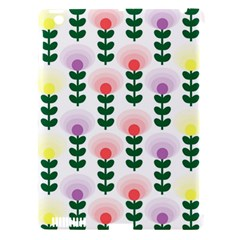 Floral Wallpaer Pattern Bright Bright Colorful Flowers Pattern Wallpaper Background Apple iPad 3/4 Hardshell Case (Compatible with Smart Cover)