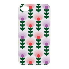 Floral Wallpaer Pattern Bright Bright Colorful Flowers Pattern Wallpaper Background Apple iPhone 4/4S Premium Hardshell Case