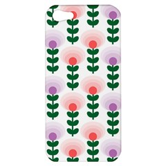 Floral Wallpaer Pattern Bright Bright Colorful Flowers Pattern Wallpaper Background Apple iPhone 5 Hardshell Case