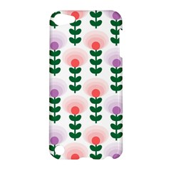 Floral Wallpaer Pattern Bright Bright Colorful Flowers Pattern Wallpaper Background Apple iPod Touch 5 Hardshell Case
