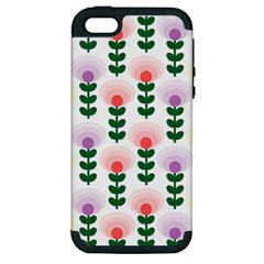 Floral Wallpaer Pattern Bright Bright Colorful Flowers Pattern Wallpaper Background Apple iPhone 5 Hardshell Case (PC+Silicone)