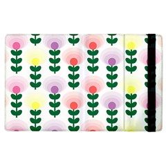 Floral Wallpaer Pattern Bright Bright Colorful Flowers Pattern Wallpaper Background Apple iPad 2 Flip Case