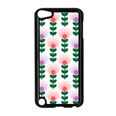 Floral Wallpaer Pattern Bright Bright Colorful Flowers Pattern Wallpaper Background Apple iPod Touch 5 Case (Black)