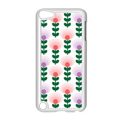 Floral Wallpaer Pattern Bright Bright Colorful Flowers Pattern Wallpaper Background Apple Ipod Touch 5 Case (white)