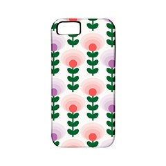 Floral Wallpaer Pattern Bright Bright Colorful Flowers Pattern Wallpaper Background Apple iPhone 5 Classic Hardshell Case (PC+Silicone)
