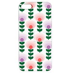 Floral Wallpaer Pattern Bright Bright Colorful Flowers Pattern Wallpaper Background Apple iPhone 5 Hardshell Case with Stand