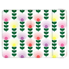 Floral Wallpaer Pattern Bright Bright Colorful Flowers Pattern Wallpaper Background Samsung Galaxy Tab 7  P1000 Flip Case