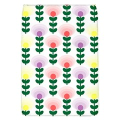 Floral Wallpaer Pattern Bright Bright Colorful Flowers Pattern Wallpaper Background Flap Covers (L)