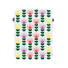 Floral Wallpaer Pattern Bright Bright Colorful Flowers Pattern Wallpaper Background Apple iPad 2/3/4 Protective Soft Cases