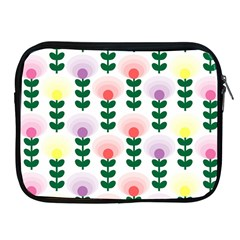 Floral Wallpaer Pattern Bright Bright Colorful Flowers Pattern Wallpaper Background Apple iPad 2/3/4 Zipper Cases