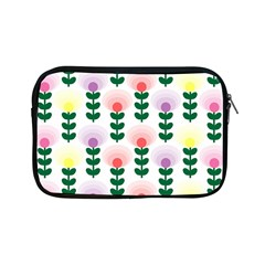 Floral Wallpaer Pattern Bright Bright Colorful Flowers Pattern Wallpaper Background Apple iPad Mini Zipper Cases