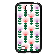 Floral Wallpaer Pattern Bright Bright Colorful Flowers Pattern Wallpaper Background Samsung Galaxy S4 I9500/ I9505 Case (Black)