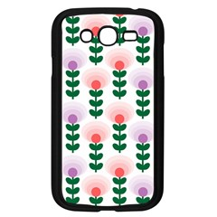Floral Wallpaer Pattern Bright Bright Colorful Flowers Pattern Wallpaper Background Samsung Galaxy Grand DUOS I9082 Case (Black)