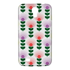 Floral Wallpaer Pattern Bright Bright Colorful Flowers Pattern Wallpaper Background Samsung Galaxy Mega 6.3  I9200 Hardshell Case