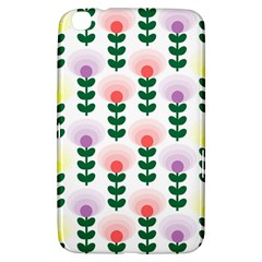 Floral Wallpaer Pattern Bright Bright Colorful Flowers Pattern Wallpaper Background Samsung Galaxy Tab 3 (8 ) T3100 Hardshell Case