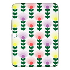 Floral Wallpaer Pattern Bright Bright Colorful Flowers Pattern Wallpaper Background Samsung Galaxy Tab 3 (10.1 ) P5200 Hardshell Case