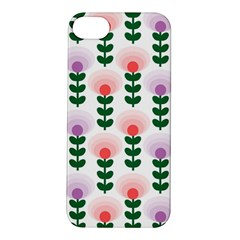 Floral Wallpaer Pattern Bright Bright Colorful Flowers Pattern Wallpaper Background Apple iPhone 5S/ SE Hardshell Case