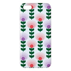 Floral Wallpaer Pattern Bright Bright Colorful Flowers Pattern Wallpaper Background iPhone 5S/ SE Premium Hardshell Case