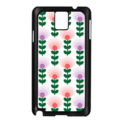 Floral Wallpaer Pattern Bright Bright Colorful Flowers Pattern Wallpaper Background Samsung Galaxy Note 3 N9005 Case (Black)