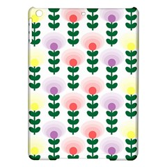 Floral Wallpaer Pattern Bright Bright Colorful Flowers Pattern Wallpaper Background Ipad Air Hardshell Cases