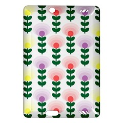 Floral Wallpaer Pattern Bright Bright Colorful Flowers Pattern Wallpaper Background Amazon Kindle Fire HD (2013) Hardshell Case