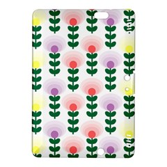 Floral Wallpaer Pattern Bright Bright Colorful Flowers Pattern Wallpaper Background Kindle Fire Hdx 8 9  Hardshell Case