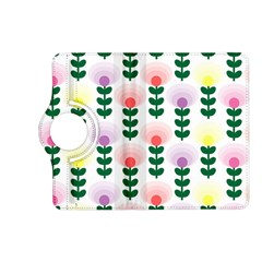 Floral Wallpaer Pattern Bright Bright Colorful Flowers Pattern Wallpaper Background Kindle Fire HD (2013) Flip 360 Case