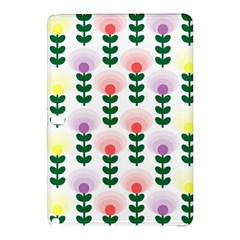 Floral Wallpaer Pattern Bright Bright Colorful Flowers Pattern Wallpaper Background Samsung Galaxy Tab Pro 12.2 Hardshell Case