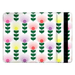 Floral Wallpaer Pattern Bright Bright Colorful Flowers Pattern Wallpaper Background Samsung Galaxy Tab Pro 12.2  Flip Case