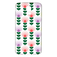 Floral Wallpaer Pattern Bright Bright Colorful Flowers Pattern Wallpaper Background Samsung Galaxy S5 Back Case (White)