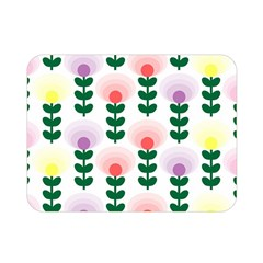 Floral Wallpaer Pattern Bright Bright Colorful Flowers Pattern Wallpaper Background Double Sided Flano Blanket (mini)