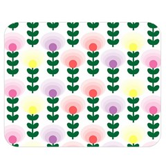 Floral Wallpaer Pattern Bright Bright Colorful Flowers Pattern Wallpaper Background Double Sided Flano Blanket (Medium)