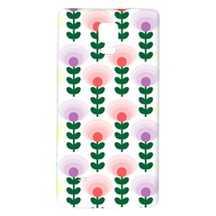 Floral Wallpaer Pattern Bright Bright Colorful Flowers Pattern Wallpaper Background Galaxy Note 4 Back Case