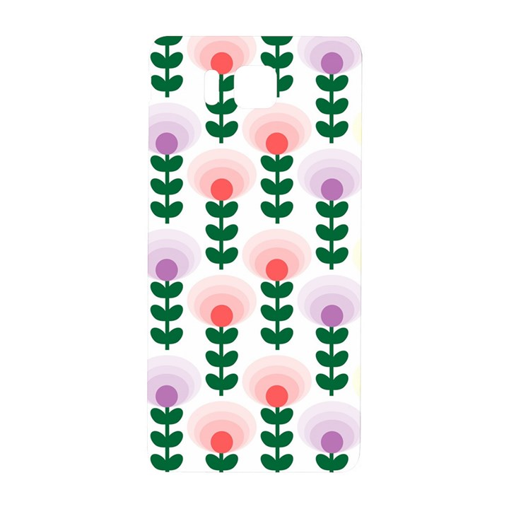 Floral Wallpaer Pattern Bright Bright Colorful Flowers Pattern Wallpaper Background Samsung Galaxy Alpha Hardshell Back Case