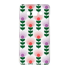 Floral Wallpaer Pattern Bright Bright Colorful Flowers Pattern Wallpaper Background Samsung Galaxy A5 Hardshell Case