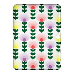 Floral Wallpaer Pattern Bright Bright Colorful Flowers Pattern Wallpaper Background Samsung Galaxy Tab 4 (10.1 ) Hardshell Case