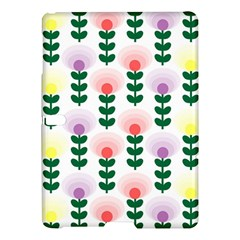 Floral Wallpaer Pattern Bright Bright Colorful Flowers Pattern Wallpaper Background Samsung Galaxy Tab S (10.5 ) Hardshell Case