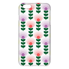 Floral Wallpaer Pattern Bright Bright Colorful Flowers Pattern Wallpaper Background iPhone 6 Plus/6S Plus TPU Case