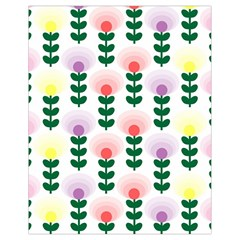Floral Wallpaer Pattern Bright Bright Colorful Flowers Pattern Wallpaper Background Drawstring Bag (small)