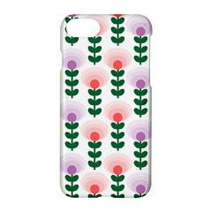 Floral Wallpaer Pattern Bright Bright Colorful Flowers Pattern Wallpaper Background Apple Iphone 7 Hardshell Case