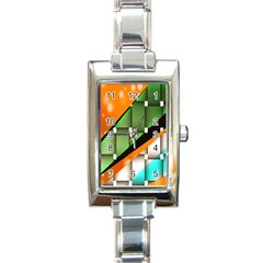 Abstract Wallpapers Rectangle Italian Charm Watch
