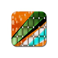 Abstract Wallpapers Rubber Square Coaster (4 pack)