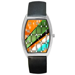 Abstract Wallpapers Barrel Style Metal Watch