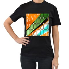 Abstract Wallpapers Women s T-Shirt (Black) (Two Sided)