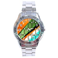 Abstract Wallpapers Stainless Steel Analogue Watch