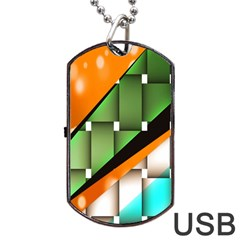 Abstract Wallpapers Dog Tag USB Flash (One Side)