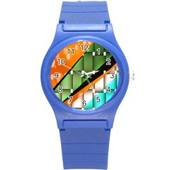 Abstract Wallpapers Round Plastic Sport Watch (S)