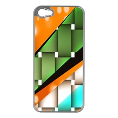 Abstract Wallpapers Apple iPhone 5 Case (Silver)