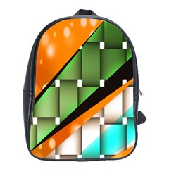 Abstract Wallpapers School Bags (XL)